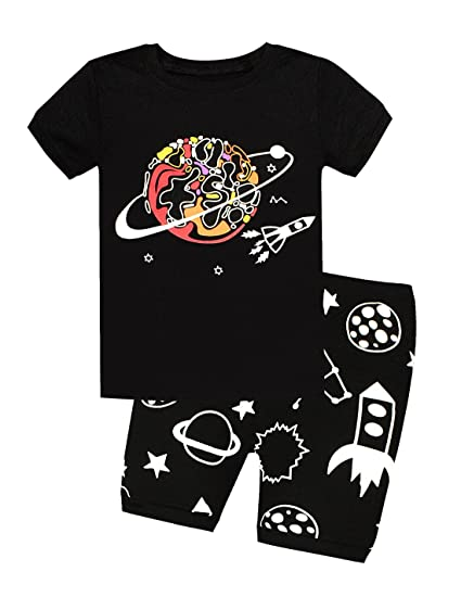 d7f6ed420 Amazon.com  Viobarmo Little Boys Pajama Set Kids T Shirt Top   Pants ...