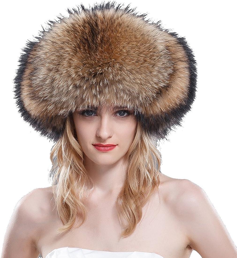 URSFUR Women's Raccoon Fur...