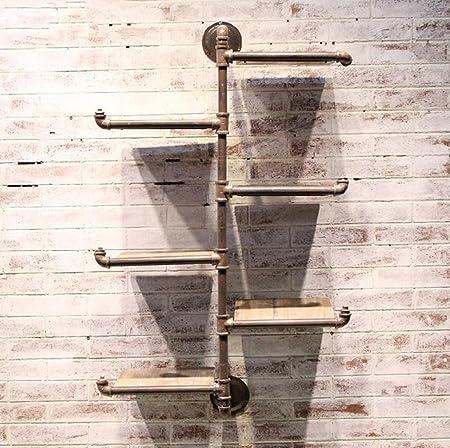 GLFZWJ Rústicas 6 Nivel Estante De La Pared Estantes De Escalera, Tuberías De Agua Retro Estante