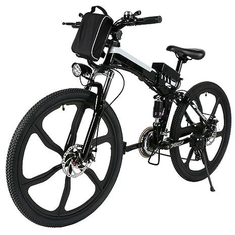 AMDirect Bicicleta Eléctrica de Montaña Plegable 26 36V 21 ...
