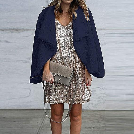 Amazon.com: Winter Womens Blazer Jacke Wool Cardigan Ladies Casual Plush Coat: Clothing