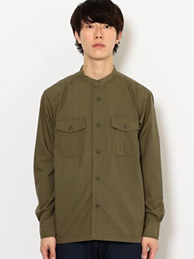 Band Collar CPO Shirt 3211-149-2413: Olive