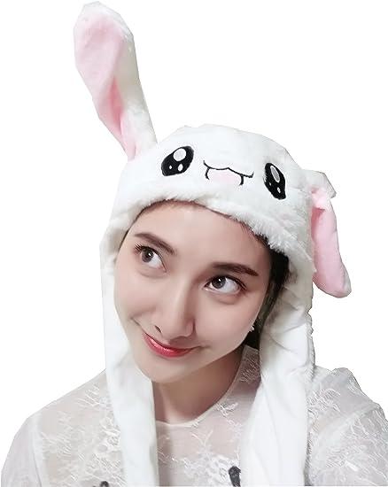carnaval GWHW Gorro de orejas de conejo divertido novedad sombrero de peluche accesorios para disfraz de cumplea/ños