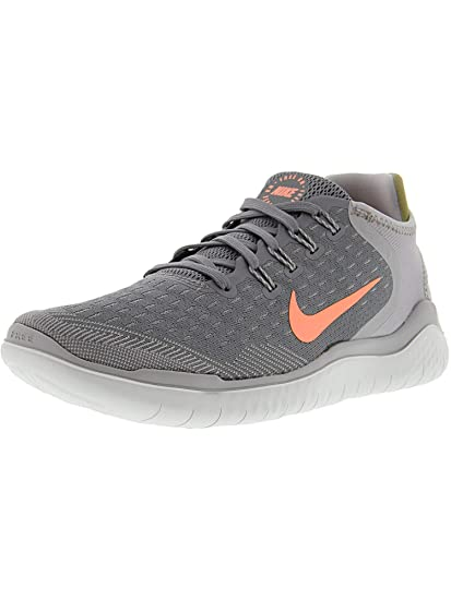 bc30570753a5f Image Unavailable. Image not available for. Color  Nike Women s Free RN 2018  Running Shoe Gunsmoke Crimson Pulse Atmosphere Grey ...