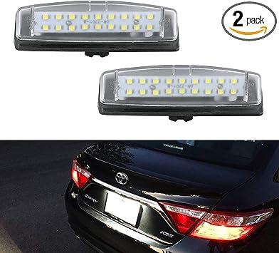 Xenon White LivTee Extremely Bright License Plate Frame LED License Plate Lights Lamp 6000K