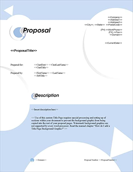 amazon com proposal pack in motion 1 business proposals plans
