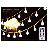 Amazon Price History for:[Remote & Timer] 33Ft Globe String Lights 100LED Fairy Twinkle Lights with Remote 8 Modes Controller & UL Listed Adaptor Plug-for Patio/Party/Garden/Wedding Decor, Warm White