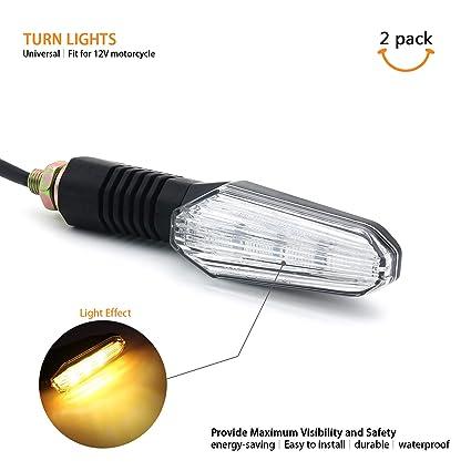 Amazon.com: LED Turn Signal Blinker Indicador de luz ...
