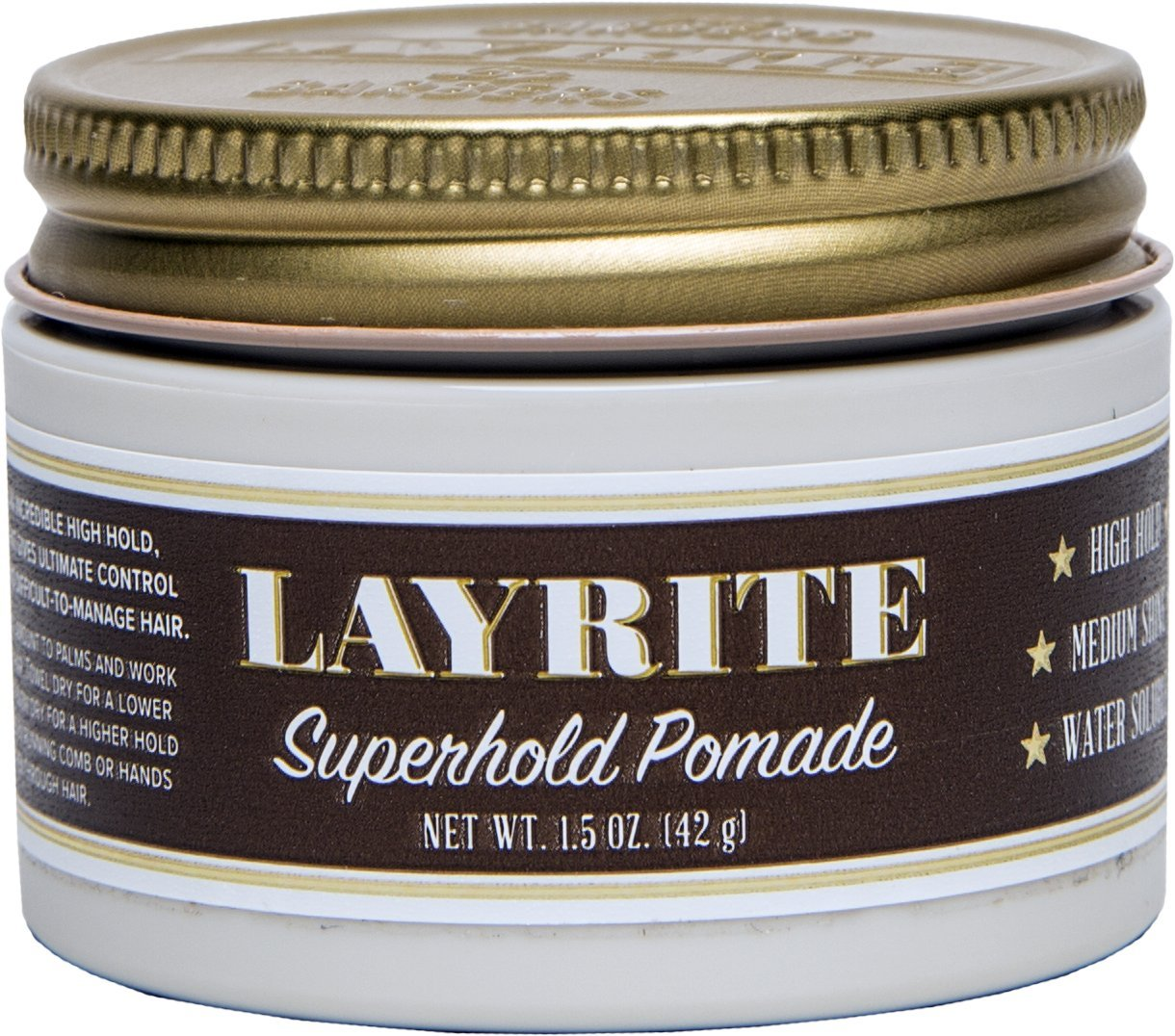 Layrite Super Hold Pomade, 1.5 oz.