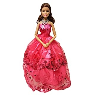 Barbie Dolls Clothes Handmade Wedding Party Gown Dresses Emore