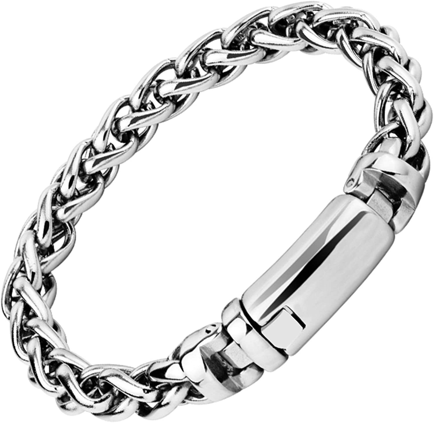 Gnzoe Stainless Steel Chain Necklace For Men Silver Double Curb Chain Men Chain Necklace Necklaces