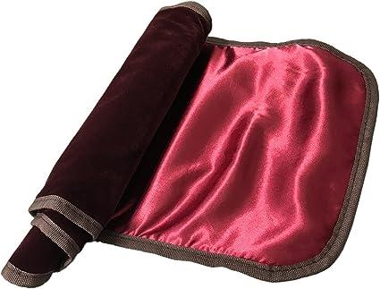 Hand Made Satin Fabric Violin Bag 4//4 Full Size Elegant Burgundy Color