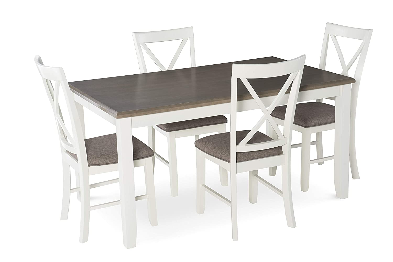 Powell Furniture 15D8153 Jane 5 Piece Dining Set, Multicolor