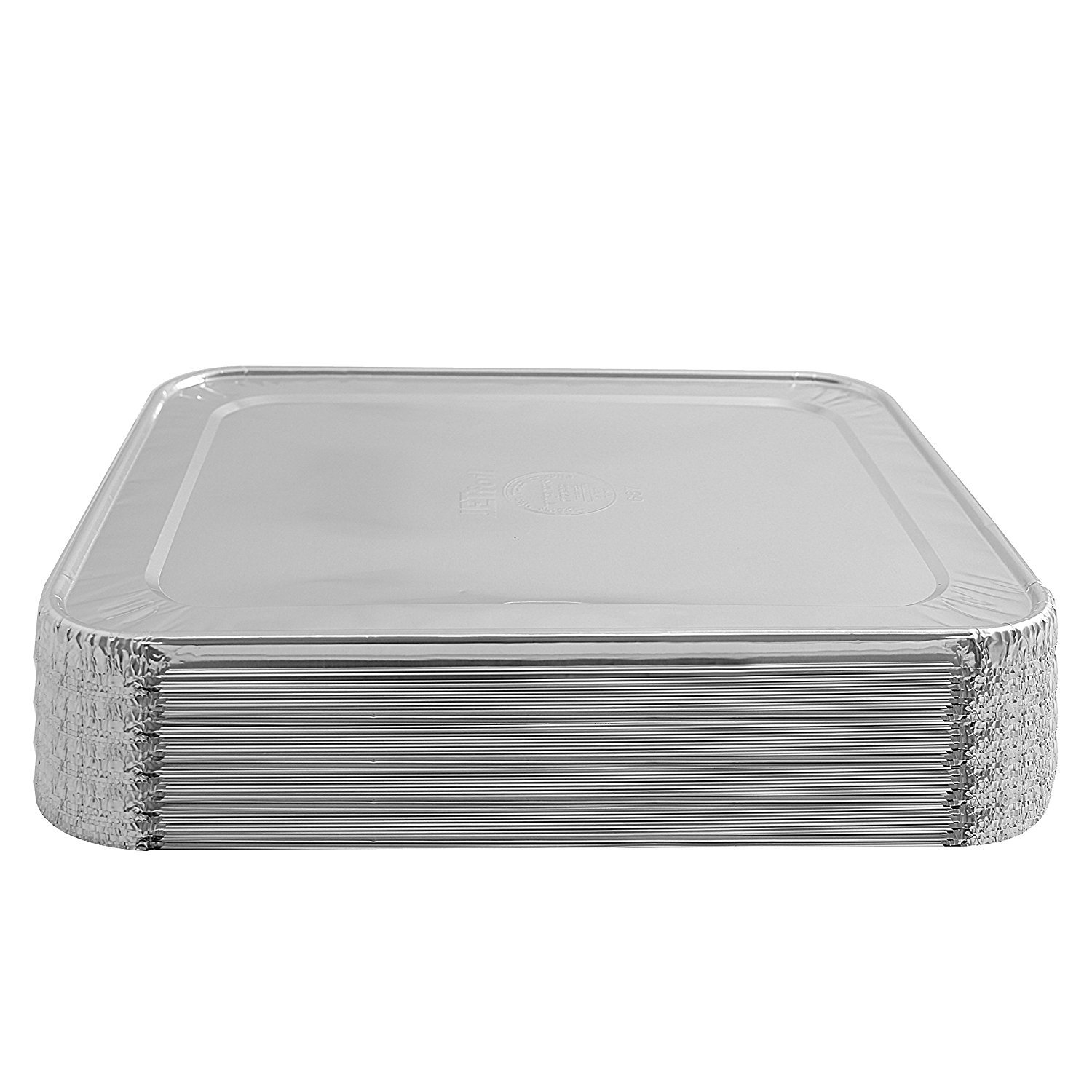 Jetfoil Aluminum Foil Steam Table Pans With Lids   Perfect for Catering, Party Supplies & Suitable for Broiling, Baking, Cakes and Pies - 9 x 13 Half size Deep   Pack of 30 by Jetfoil (Image #6)