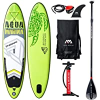 Aquamarina Thrive SUP Stand Up Paddle Board with Paddle, Leash, Magic Back Pack and Double Action Pump