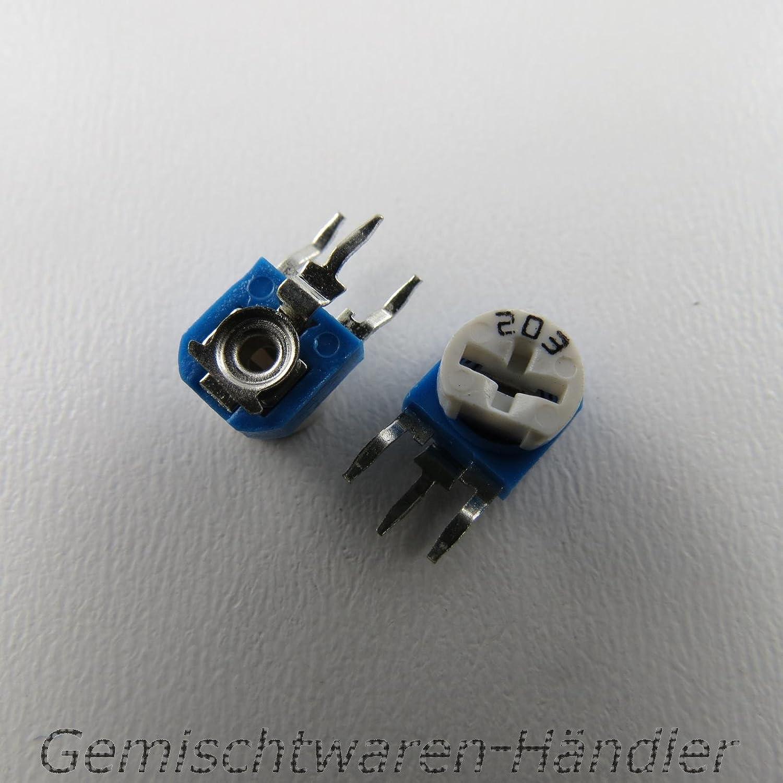Trimmer Piher PT15 f/ür Steckachse Trimmpotentiometer 10K Ohm