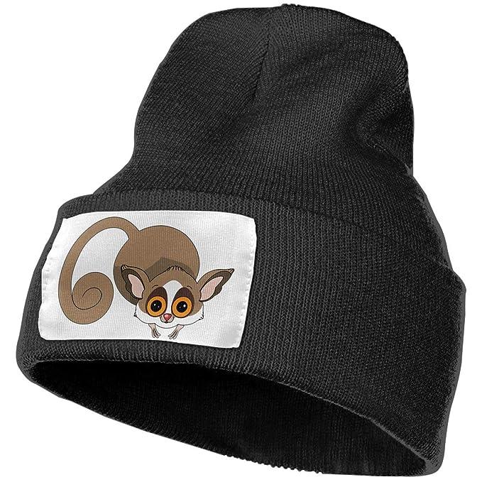 AZNM Adorable Slow Loris Beanie Skull Cap Slouchy Knit Beanie Hats Plain  Winter Hats for Men 5c943c77389