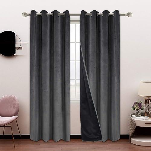 SHEEROOM 100 Blackout Velvet Curtains