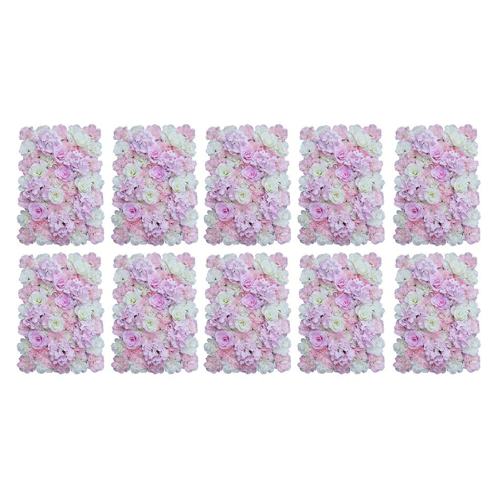 SM SunniMix 10x Kunstblumen Dekoration Blumenwand Blumen Säule/Straße/Hintergrund, DIY Handwerk