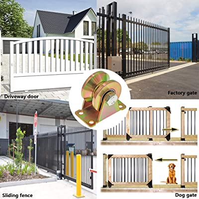 Sliding Gate Industrial Machines Pack of 2 Wire Rope Rail Skelang 2 V-Type Groove Wheel Heavy Duty Rigid Caster with Bracket for Inverted Track Patio Rolling Door Loading Capacity 660 Lbs