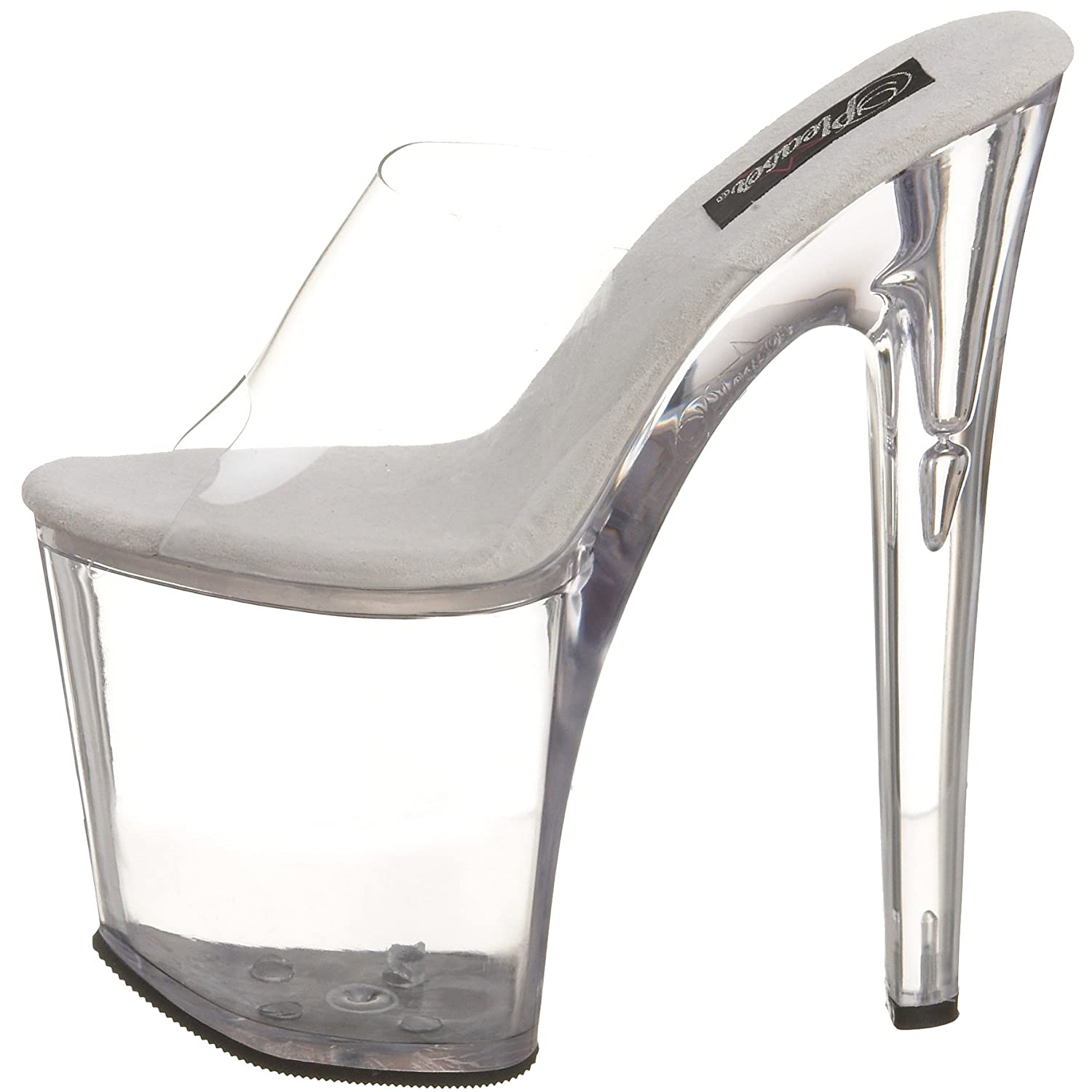 Pleaser Women's Xteme-801 Platform Slide B0016BRD2K 10 B(M) US|Clear