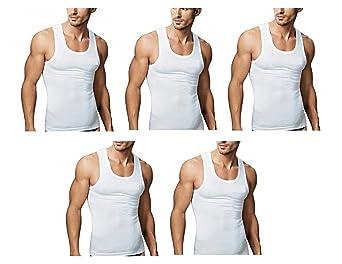Rupa Men's Cotton Sleeveless Vest - Pack of 5 Men's Underwear Vests at amazon
