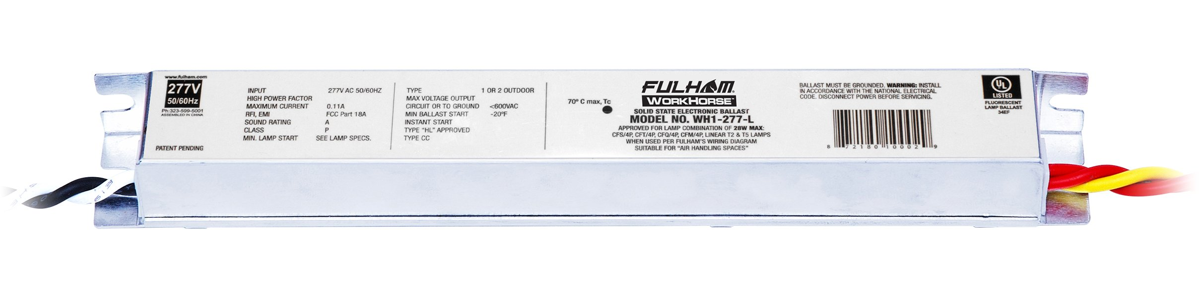 Fulham WH1-277-L Workhorse Adaptable Ballast