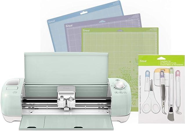 Cricut Explore Air 2 Mint Essentials Bundle Cricut Air 2 Basic Tool Kit 3 Variety Cutting Mats Amazon Co Uk Kitchen Home