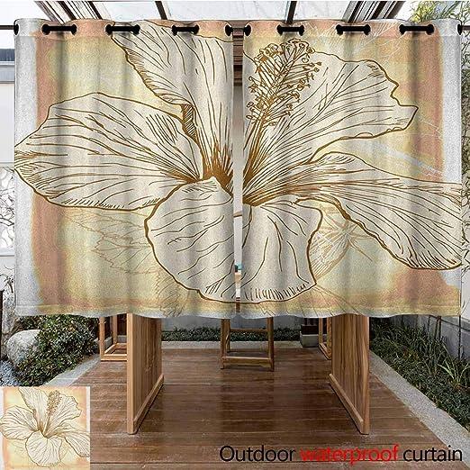 AndyTours - Cortina de pérgola, diseño Floral, con Forma de corazón de Hierbas, pétalos de Flores en tablones de Madera, Impermeable, Panel de Puerta de Patio: Amazon.es: Jardín