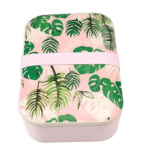 Rex London Tropical Palm Bamboo Lunch Box Amazon Co Uk Kitchen Home