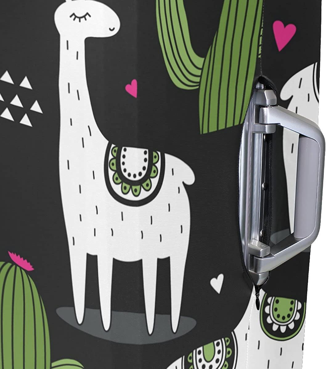 Elastic Travel Luggage Cover Alpaca Cactus Suitcase Protector for 18-20 Inch Luggage