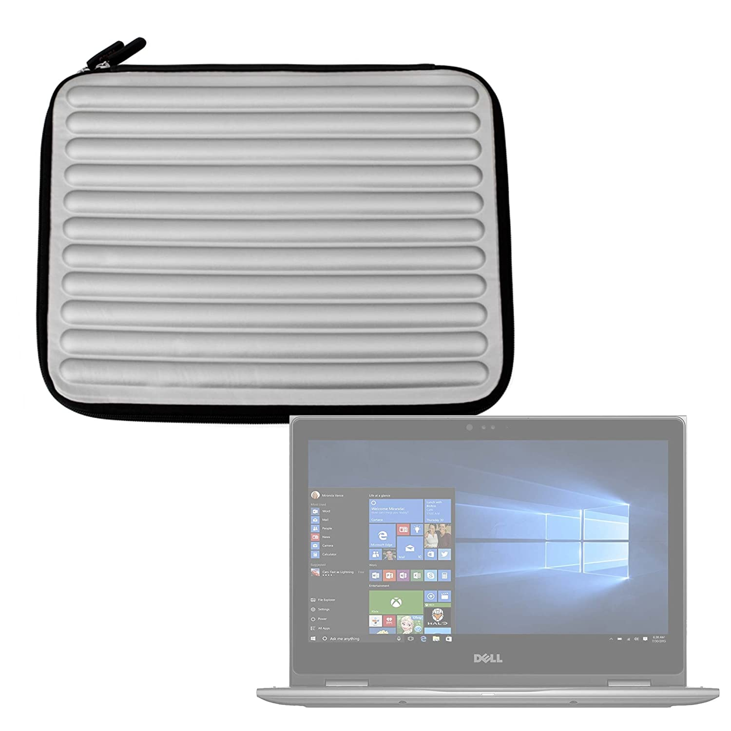 Amazon.com: DURAGADGET Silver Laptop Sleeve/Case in Shock ...