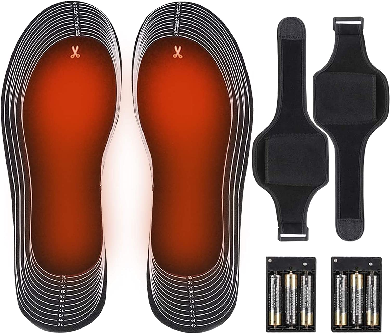 Eebuy Electric Heated Insole, Battery Operated Heated Shoe Inserts Winter Heated Insoles for Men and Women, Electric Heating Insoles for Outdoor Sports Hunting/Fishing/Shoveling Snow