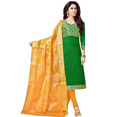 Ladyline Readymade Salwar Kameez Brocade Silk Indian Salwar Dress