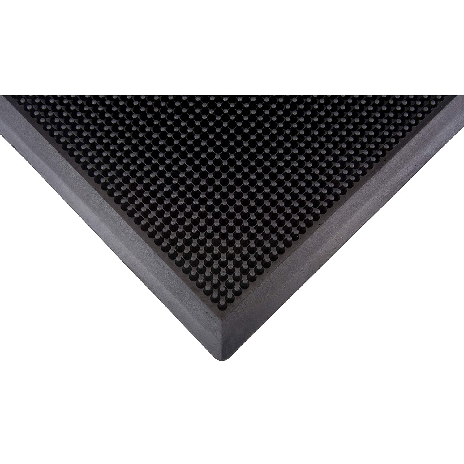 Rubber Black Textured Zenith Safety Products Scraper Mat 32 by 39-Inch