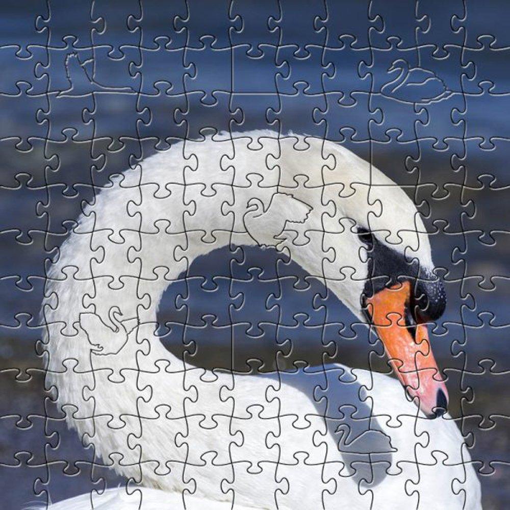 【史上最も激安】 ZenパズルArtisanalホワイトスワン木製Medium 204ピースジグソーパズル B07FB1B778 B07FB1B778, ヤオシ:7154d31b --- 4x4.lt