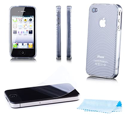 3769dcd4a5 Apple iPhone 4/4S | iCues Loopy TPU Rubber Gel Soft Silicone Case White  |[Screen Protector Included] Cover Shell Shookproof: Amazon.co.uk:  Electronics