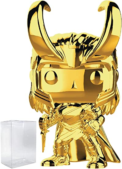 Vinyl Figure Includes Compatible Pop Box Protector Case Loki Gold Chrome Marvel Studios 10th Anniversary Funko Pop
