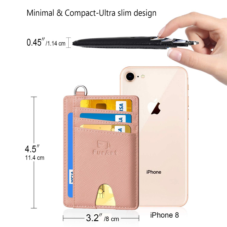 FurArt Slim Minimalist Wallet, Front Pocket Wallets, RFID Blocking, Credit Card Holder with Disassembly D-Shackle by FurArt (Image #7)
