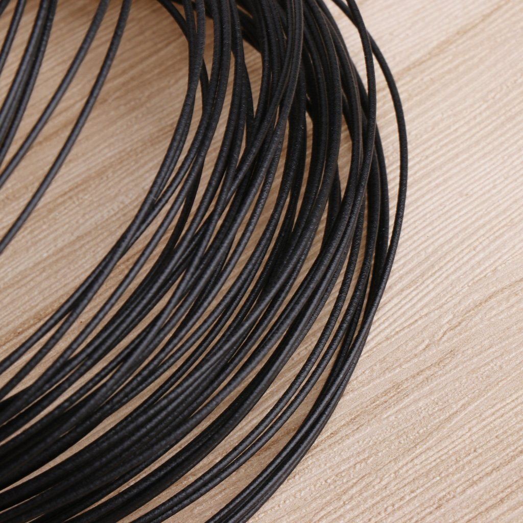 zrshygs Fixing Straps 40m Garden Coated Black Twist Wire String Tie Roll Plant Support Strap Cables