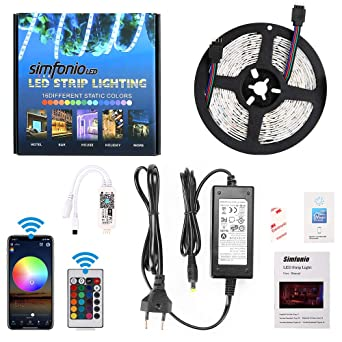 Simfonio Led Strip 5m Led Stripes Arbeitet Mit Alexa Google Home
