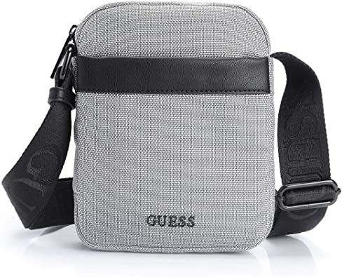 Guess Sacoche Homme Global Function Gris Taille unique