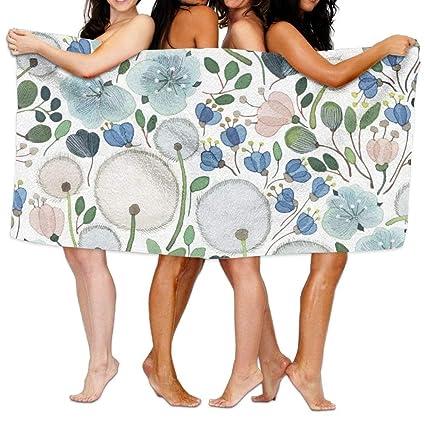 MALY Home - Juego de toallas de baño, diseño de flores de diente de león