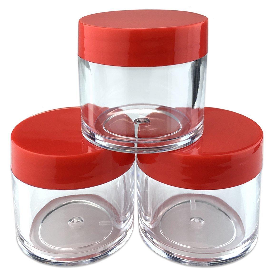 Amazoncom 3 Pcs Beauticom Clear 1 Oz Plastic Cosmetic Jar With