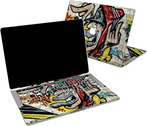 Lex Altern Vinyl Skin for MacBook Air 13 inch Mac Pro 16 15 Retina 12 11 2020 2019 2018 2017 Colorful Graffiti Urban Street Art Yellow Cool Sticker Protective Print Wrap Top Cover Keyboard Decal