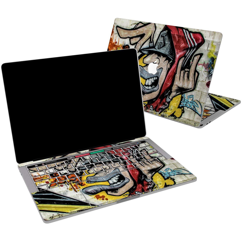 Lex Altern Vinyl Skin for MacBook Air 13 inch Mac Pro 15 Retina 12 11 2019 2018 2017 2016 2015 Colorful Graffiti Urban Street Art Yellow Cool Sticker Protective Print Wrap Top Cover Keyboard Decal
