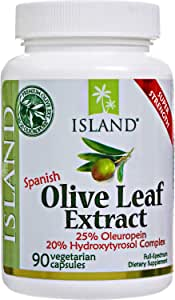 Real European Olive Leaf Extract - 25% Oleuropein Plus 20% Hydroxytyrosol Complex™ - 100% Grown & Extracted in Spain - Super-Strength Capsules by Island Nutrition®