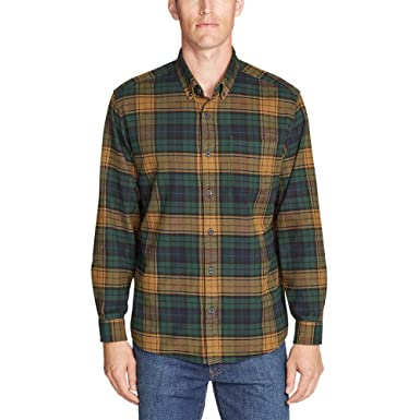 4ff8c6f594 Eddie Bauer Men s Eddie s Favorite Flannel Relaxed Fit Shirt - Plaid ...