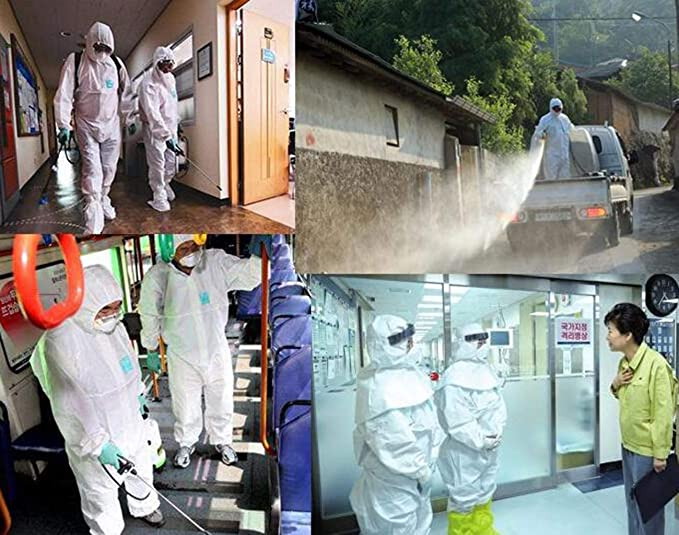 ZFZ Ropa de protección química Ropa siamés Anti-epidemia ...