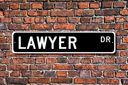 Teisyouhu Stree Decorative Signs Lawyer Gift Sign Attorney Gift For Lawyer  Law Office Decor Metal Wall
